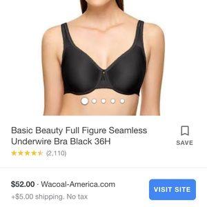 Wacoal Basic Beauty seamless bra, 36DD